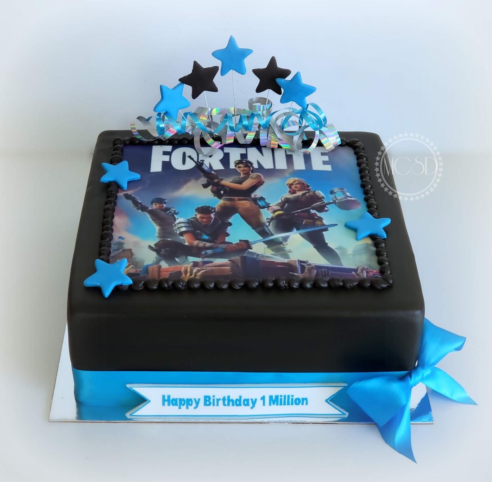 Cakesbyzana Fortnite Birthday Cake