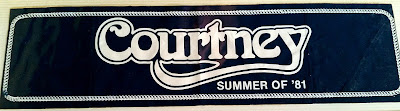 Courtney bumper sticker... 1981