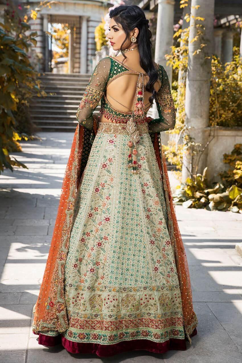 Chikankari bridal collection Pakistani bridal lehnga choli by Sheeba Kapadia