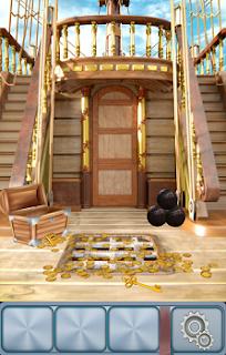 На 2 уровне из сундука высыпаются монеты на палубу