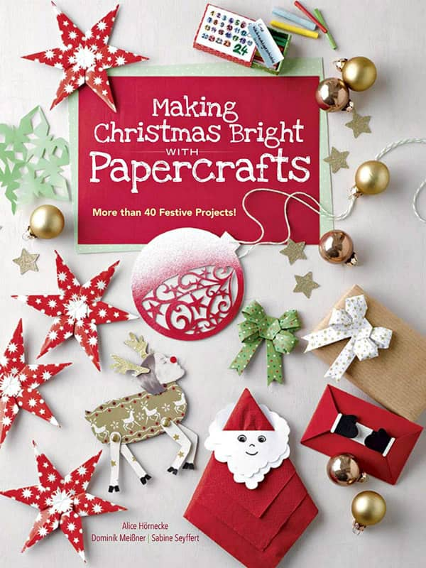 book of 40 festive Christmas paper crafts to make