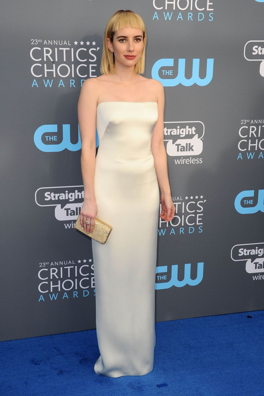 Emma Roberts At 2018 Critics Choice Awards In Santa Monica