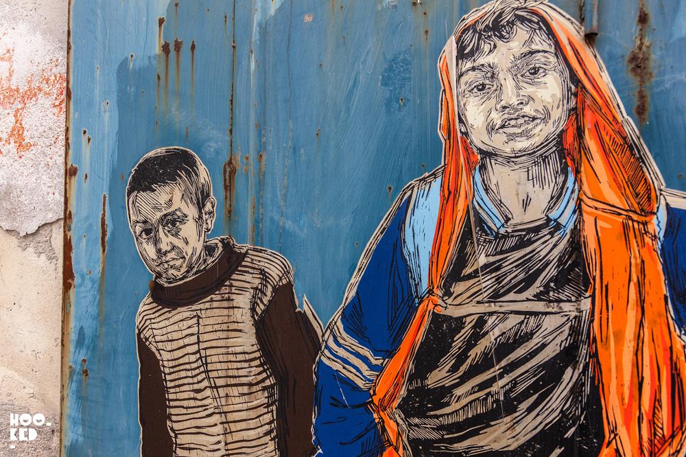 Street Art in Puglia, Italy by street artist Swoon