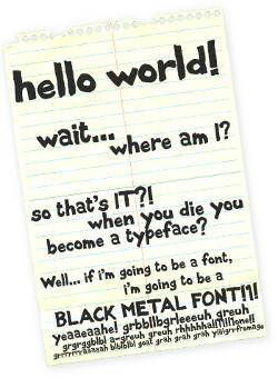 font black metal free download