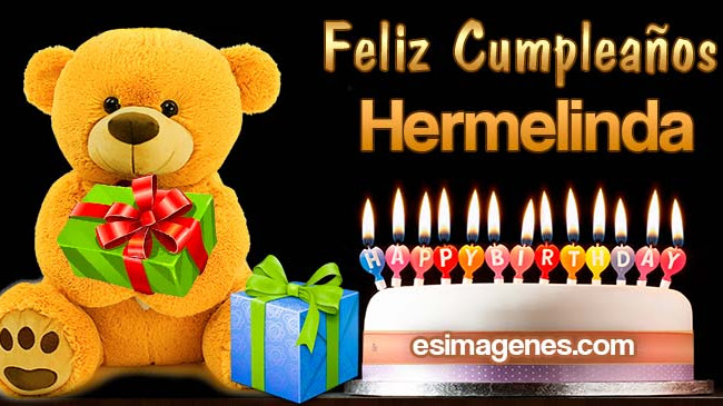 Feliz cumpleaños Hermelinda