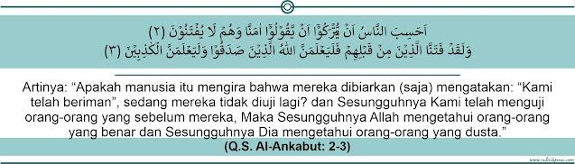 qs al-ankabut ayat 2-3