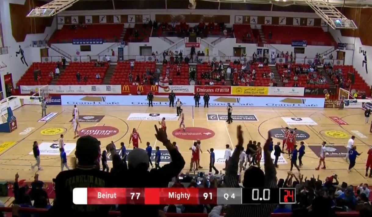 Mighty Sports def. Beirut Sports Club Lebanon, 91-77 (REPLAY VIDEO) Dubai International Basketball Championship | January 29