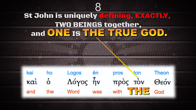 St John is uniquely defining, EXACTLY, TWO BEINGS together, and ONE IS THE TRUE GOD.