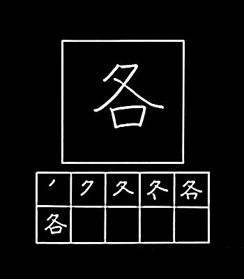 kanji masing-masing