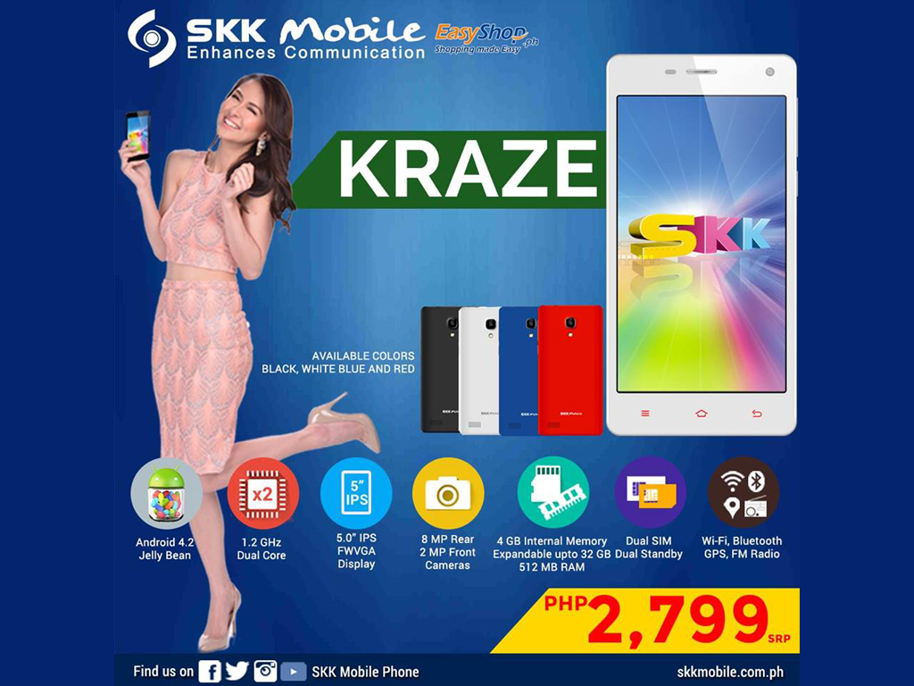 SKK Kraze: An Affordable 5-inch Dual Core Smartphone Priced at Php 2,799