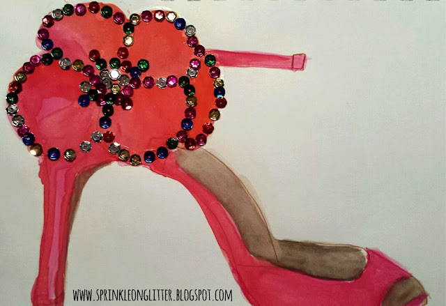If the Shoe Fits- watercolor- write 31 days