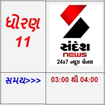 STD 11 - SANDESH News Gujarati Live Karyakram