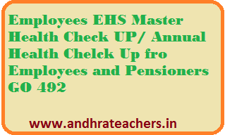 Employees EHS Master Health Check UP/ Annual Health Chelck Up fro Employees and Pensioners GO 492
