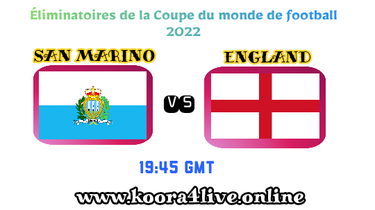england vs san marino live match