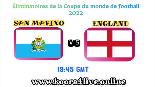 ens of match england vs san marino live match