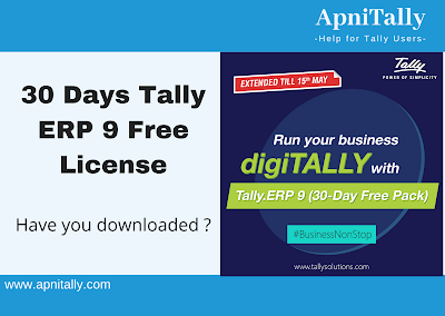 Download Tally ERP 9 free license for 30 days