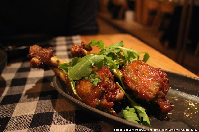 Crispy Duck Wings with Lemon, Olive oil, and yuzukosho at Upland