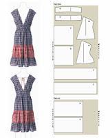 patrón de vestidos de verano retro