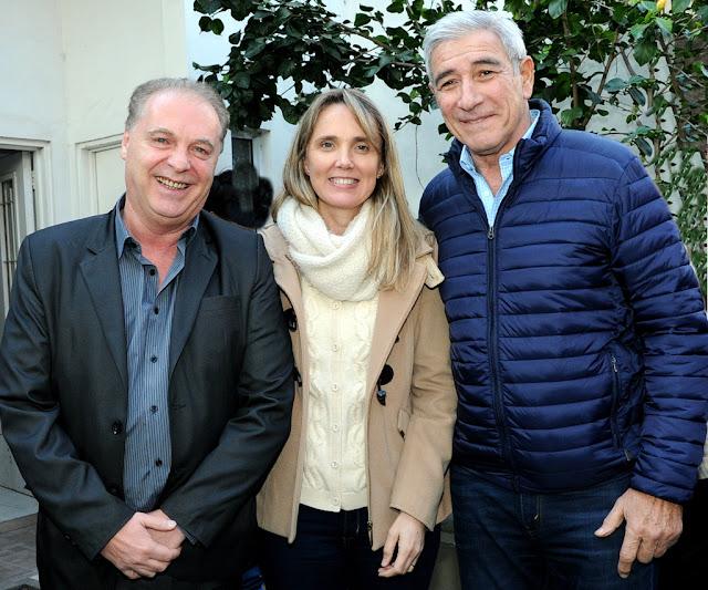 Marcelo Del Sol, Gladys González y Rubén Barabani