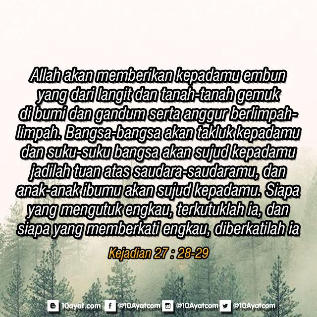 Kejadian 27 : 28-29