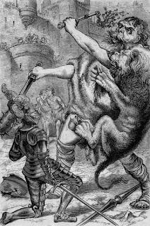 El león ataca al gigante