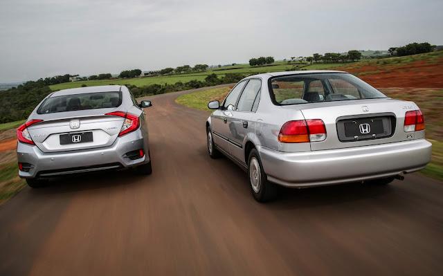 Honda Civic 1997 x Honda Civic 2018