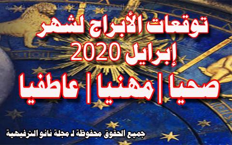 توقعات الأبراج لشهر إبريل 2020