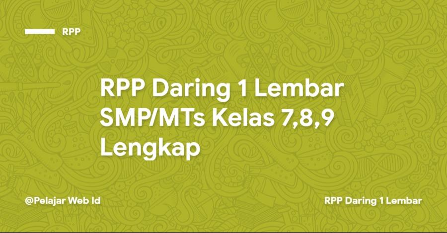 RPP Daring SMP/MTs Kelas 7,8,9