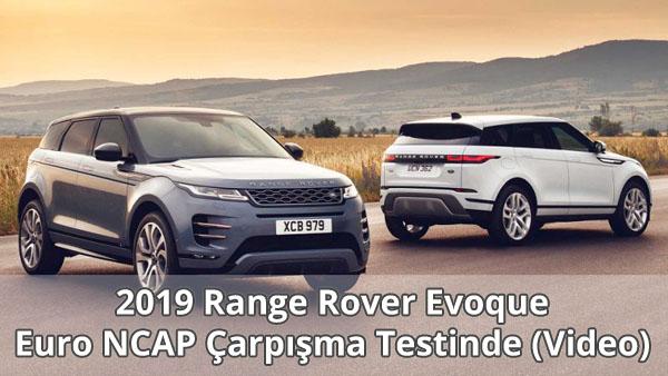 2019 Range Rover Evoque Çarpışma Testi Video
