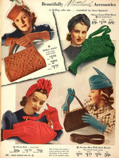 1940s Turbans Ad from Sears Catalog