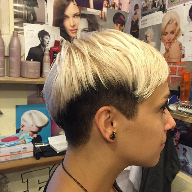 Two Tone Pixie Hairstyle