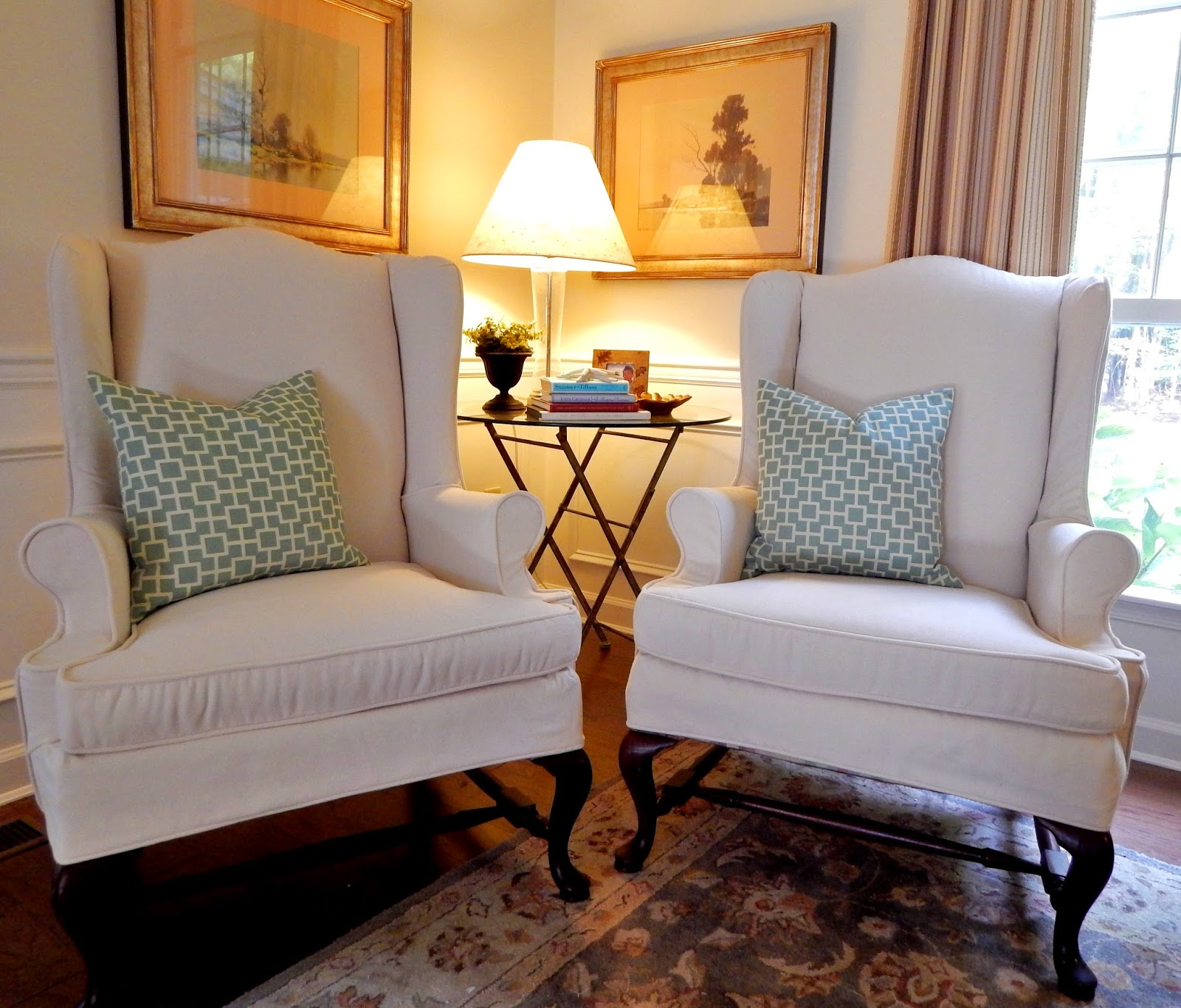 slipcovers design elisha with window treatments banding camille chair fabrication howell chairs parson pin by slipcover contrast moore