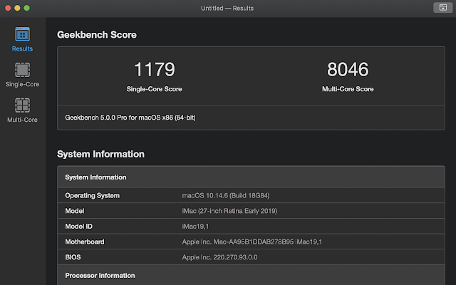 Geekbench 5 Primate Labs