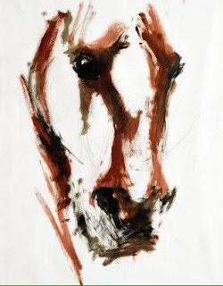 Scottish Equestrian Art, Bay Stallion, contemporary art