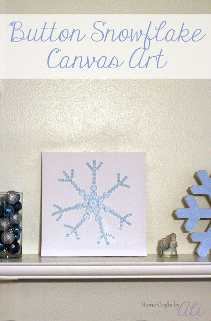 Make Your Own Button Snowflake on Canvas