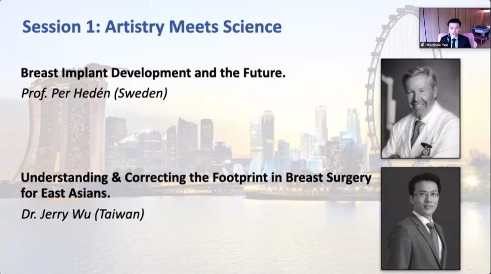 吳至偉醫師於新加坡整形外科醫學會第一個演講主題