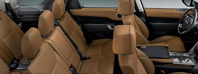 Land Rover Discovery có hệ thống ghế ngồi rộng rãi thoải mái