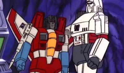 Starscream and Megatron, G1 Transformers cartoon