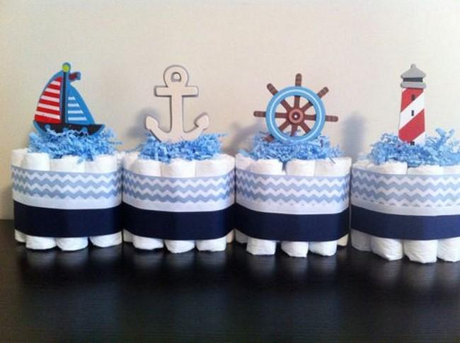 centros de mesa para baby shower de tematica marina