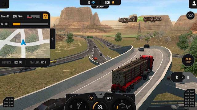 تحميل لعبة Truck Simulator PRO 2 للأندرويد مهكرة اخر اصدار