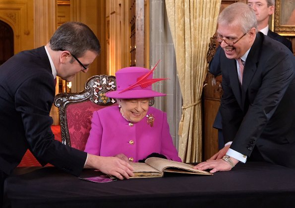 During the visit Queen Elizabeth was accompanied by Prince Andrew, Duke of York. Queen officially opened the new Ashworth Centre.