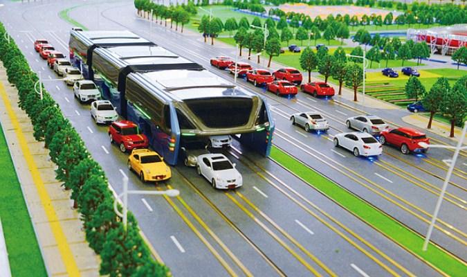 Inovasi Moda Transportasi Tercanggih Saat Ini - Transit Elevated Bus