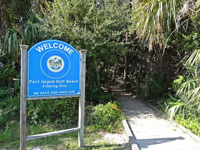 Fishing Pier in Fort Island Gulf Beach , Florida USA