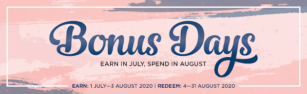 bonus days, earn in july, spend in august