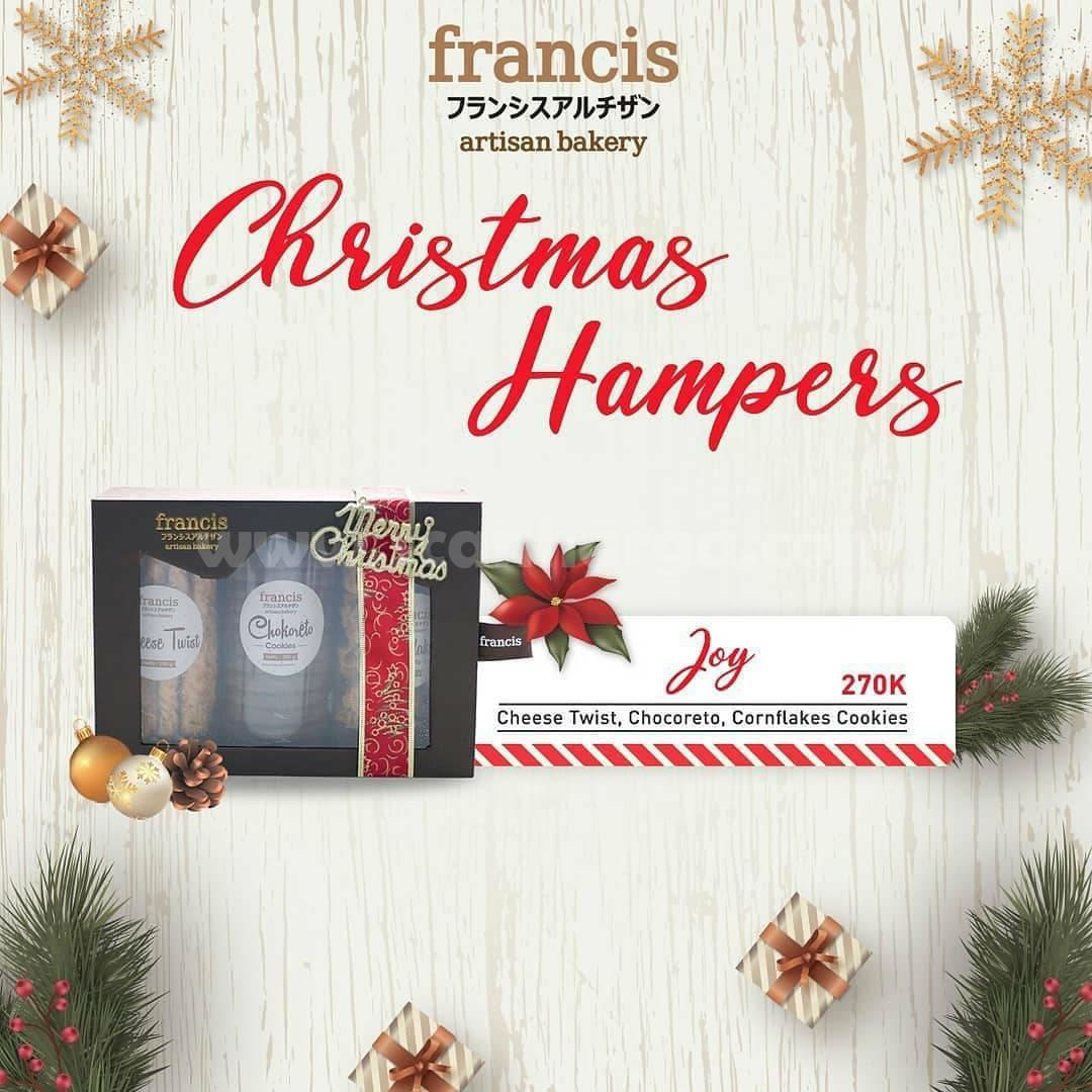 Francis Artisan Bakery Christmas Hampers – Harga mulai dari 270K*