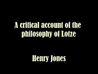 the philosophy of Lotze