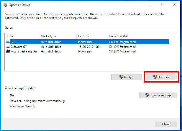 How to Use Defragment and Optimizer Drives