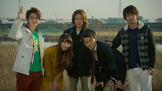 The cast of Kamen Rider 4