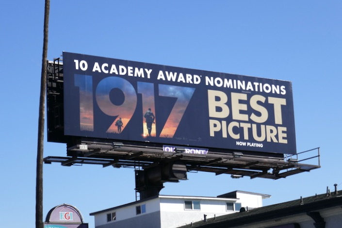1917 Oscar nominee billboard