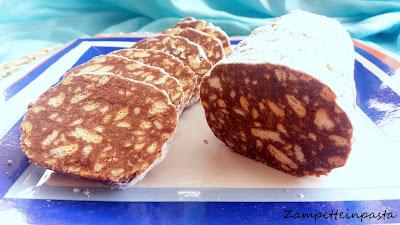 Salame al cioccolato con Nutella - Salame al cioccolato senza uova
